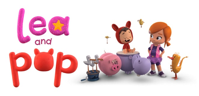 Lea and Pop | Slider image for Kids TV Shows & Nursery Rhymes | KidsBeeTV Safe Kiddies Video App | Best Cartoons for kids, baby songs, kiddies stories | safe utube for kids