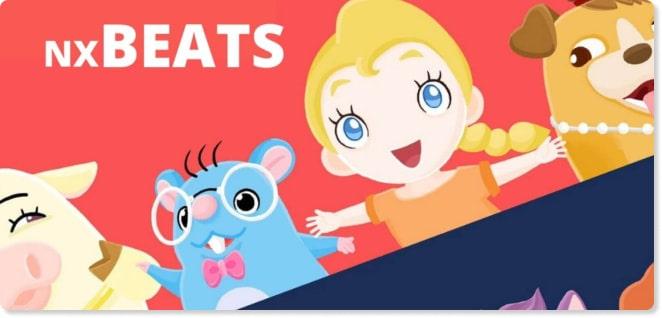 NX Beats | Slider image for Kids TV Shows & Nursery Rhymes | KidsBeeTV Safe Kiddies Video App | Best Cartoons for kids, baby songs, kiddies stories | safe utube for kids