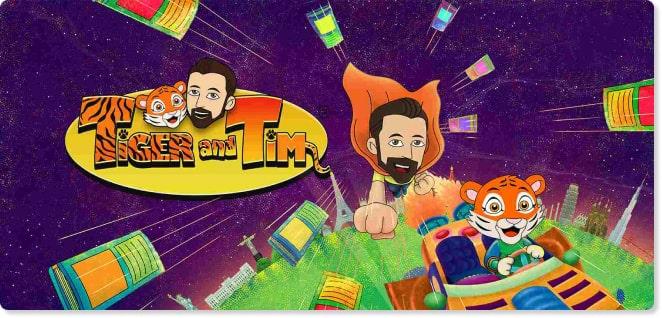 Tiger Cartoon and Tim | TV Shows for Kids | Slider image for Kids TV Shows & Nursery Rhymes | KidsBeeTV Safe Kiddies Video App | Kids fun Videos | educational video content | safe utube for kids
