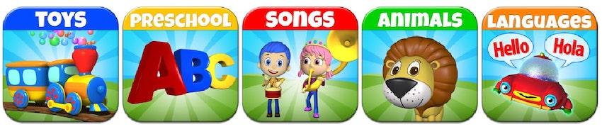 TuTiTu Five shows in one image | Shows for kids TuTiTu and NuNi, from parents to your kids | Parents and Kids Blog | tutitu cartoon | TuTiTu ABC