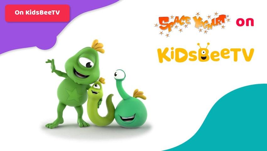 Featured image Blog Article | Kids Comedy Show Space Yoghurt strikes deal with KidsBeeTV | cartoon space | kids comedy show | outer space cartoon | space Yoghurt video