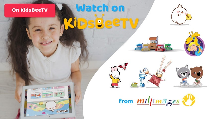 Featured Image Blog article | KidsBeeTV deal with Millimages | Utube kids alternative | Parents and Kids Blog | molang | 64 Zoo Lane | Mouk and Chavapa | Louie Cartoon | kiddie shows