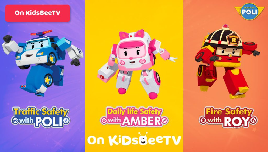 Watch Robocar Poli, Roy and Amber on KidsBeeTV safe video app Featured Image | Poli cartoon | Parents & Kids Blog Article | Blog article image | Poli the Robocar
