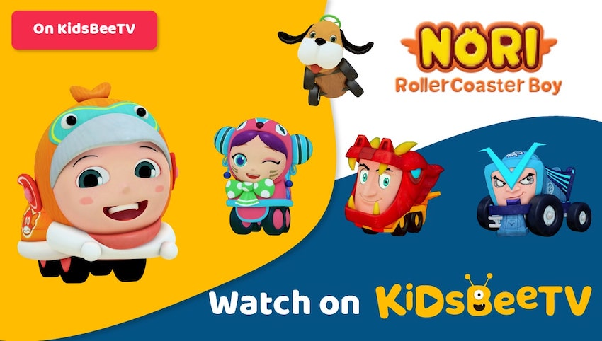 Featured Image of Nori Rollercoaster Boy comes rolling to KidsBeeTV Video App | Parents & Kids Blog Article | Rollercoaster cartoon | nori cartoon