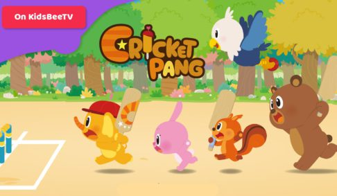 CricketPang crew is playing on KidsBeeTV and teaching kids about teamwork!
